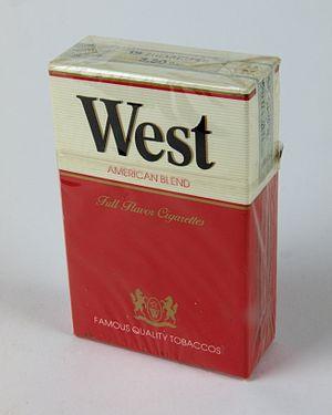 West (cigarette) - German pack of West of 1981