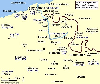 War of the Pyrenees - War of the Pyrenees, Western Theater