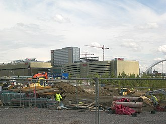 Westfield Stratford City - Construction in June 2011 at ground level