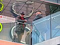 Westfield Stratford City upper entrance glass parapet, East London, England.jpg