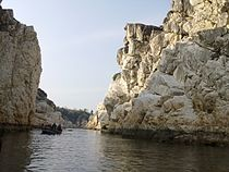 White Marble Rocks at Bhedaghat.jpg