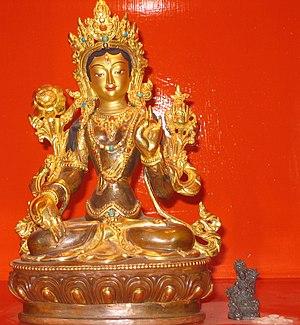 Tara (Buddhism) - White Tara statue in a Karma Kagyu dharma centre