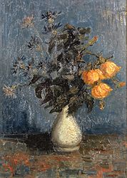 Vincent van Gogh: White Vase with Roses and Other Flowers