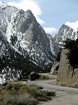 Whitney Portal, California - Whitney Portal Road approaches Whitney Portal