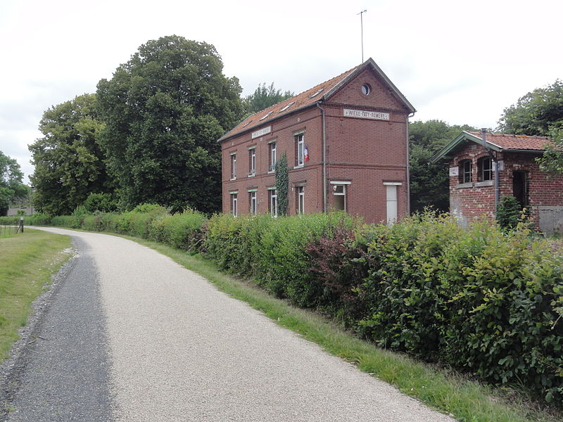 Wiège-Faty (Aisne) Axe vert, ancienne gare