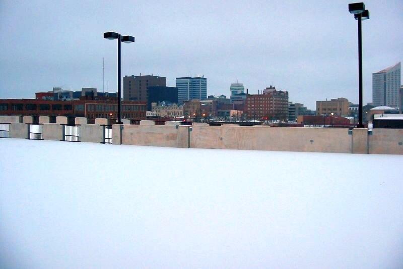 Wichita Skyline during the winter snow