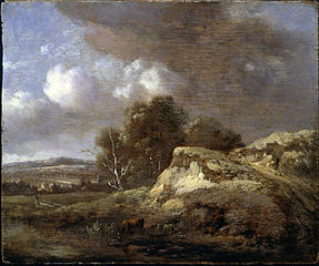 Landscape with Cow drinking