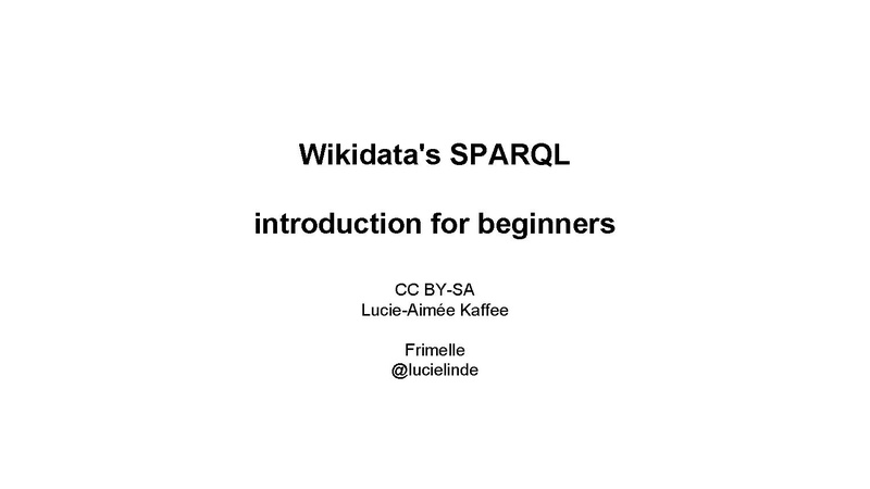 File:Wikidata's SPARQL introduction presentation.pdf