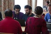 Wikimedia Hackathon Vienna 2017-05-19 Hacking Gurkerl 004.jpg
