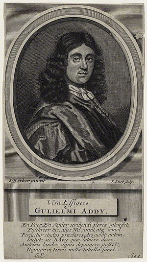 William Addy - William Addy, engraving by John Sturt from a painting by Samuel Barker