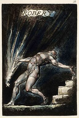 William Blake Milton poem Plate 33 copy B 1811 Huntington