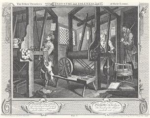 illustration of workers in industrial setting