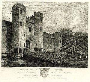 Richard Catlin - Wingfield Castle, Suffolk, by Henry Davy