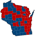 Wisconsin Senate Election Results by County, 2012.png