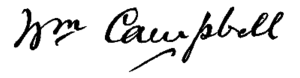 William Campbell (missionary) - Image: Wmcampbell signature