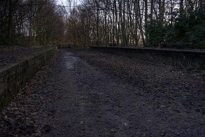 Worsley - The remains of Worsley railway station