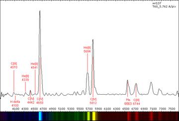 WR 137 spectrum