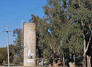 Wunghnu Town in Victoria, Australia
