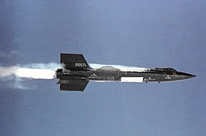 North American X-15 - X-15 after igniting rocket engine