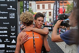Xterra triathlon Prachatice 2020, Arthur Serrieres and Maxim Chane.jpg