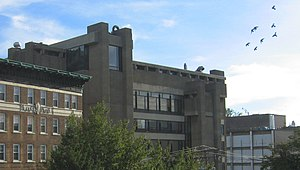 Rudolph Hall - The Yale Art and Architecture Building, pre-expansion, as seen from the rooftop of an adjacent building