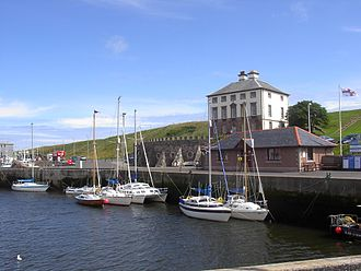 Eyemouth - Yachts berthed in Eyemouth Harbour