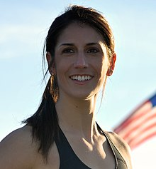 Yael Averbuch with flag.jpg