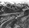 Yanert Glacier, valley glacier terminus which is covered in rocks, August 26, 1968 (GLACIERS 5114).jpg
