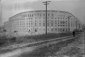 1923 New York Yankees season - Yankee Stadium in 1923, about 2 weeks before opening.