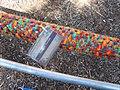 Yarn bomb - banister (5521479892).jpg