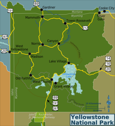 Yellowstone National Park  Travel Guide At Wikivoyage