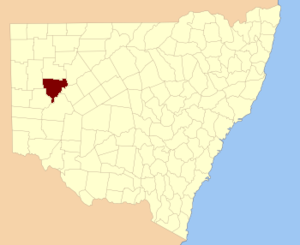 Young County, New South Wales - Location in New South Wales