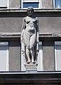 Young woman statue at Péterfy Hospital, 2018 Erzsébetváros.jpg