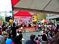 Yudah High School of Commerce and Home Economics Hot Pop Club Performing in Firefighting Promotion Event of Minsheng Community 20100410.JPG