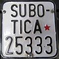 Yugoslavia license plate slow trafic Subotica.JPG
