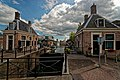 Zaandam - Wilhelminakade - View SSE on 'De Groote Sluis' - The Big Locks 1722 with two Accijnshuisjes - Excise Duty Houses.jpg