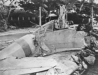 "Fort Kamehameha - Cockpit of the ""Zero"" shot down in 1941 Pearl Harbor attack"