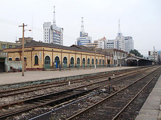 Zhangjiakou railway station (opened in 1909) terminus of Peking-Kalgan Railway built in 1909