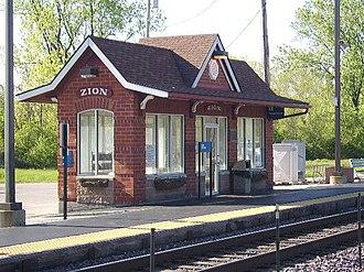 Zion, Illinois - Zion Metra Station