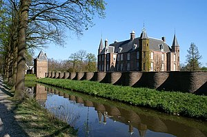 Isabelle de Charrière - Zuylen Castle with serpentine wall.