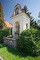 Zvonice se sochou svatého Jana Nepomuckého, Pustiměřské Prusy, Pustiměř, okres Vyškov.jpg