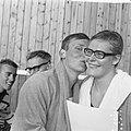Zwemkampioenschappen te Emmen, Ada Kok en Dick Langerhorst, Bestanddeelnr 918-0521.jpg