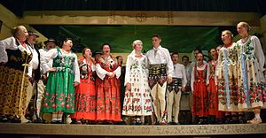 Podhale - Inhabitants of Podhale in regional costume
