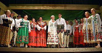 Podhale - Inhabitants of Podhale in regional costume