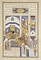 """Rustam Blames Kai Kavus for the Death of Siyavush"", Folio 202v from the Shahnama (Book of Kings) of Shah Tahmasp MET ISL137.jpg"