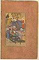 """Shaikh San'an and the Christian Maiden"", Folio 22v from a Mantiq al-Tair (Language of the Birds) MET DP247740.jpg"