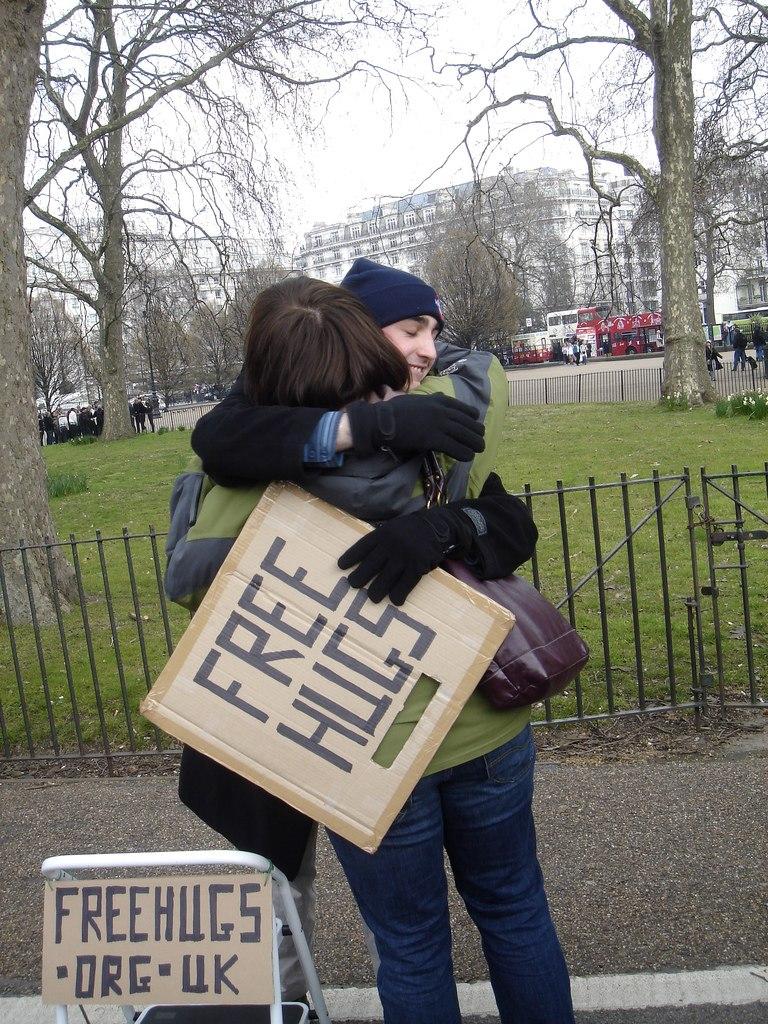 'FREE HUGS', Speaker's Corner, Hyde Park, London