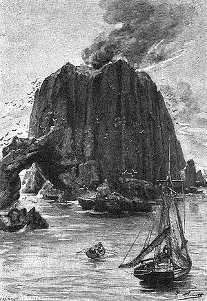 "The Fabulous World of Jules Verne - ""Back-Cup Island"": one of several Léon Benett engravings faithfully recreated in the film"
