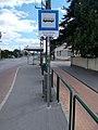 'Nyergesújfalu, bajóti elágazás' bus stop, 2020 Nyergesújfalu.jpg