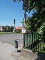 'Ráckeve, gimnázium' bus stop and Statue of Árpád, 2018 Ráckeve.jpg
